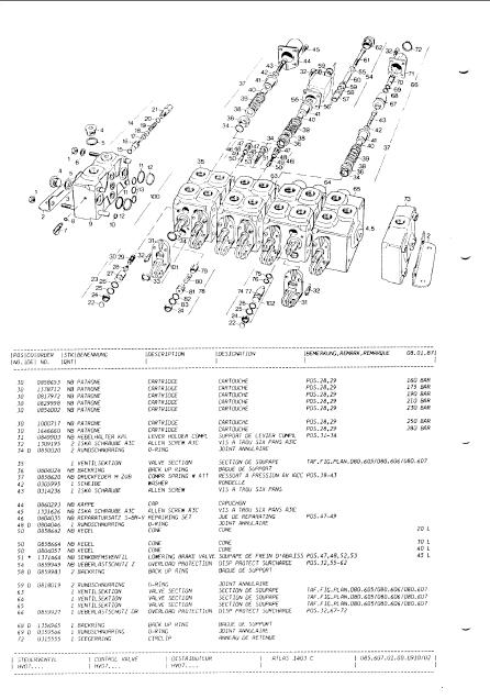 Atlas Cranes (TEREX), original spare parts catalog for