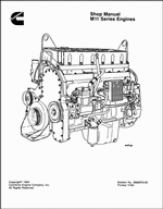 Cummins Engine Series M11, Shop Manual Cummins M11 Series